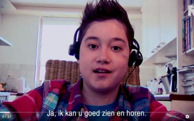 Nierpatient Lennart kan weer naar school via webchair